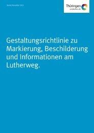 Gestaltungsrichtlinie zu Markierung, Beschilderung ... - Thüringer Wald