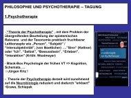 PHILOSOPHIE UND PSYCHOTHERAPIE – TAGUNG ... - PTK Bayern