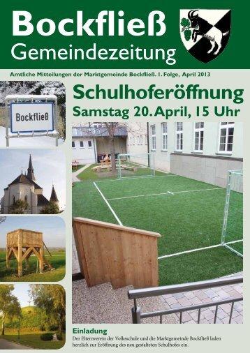 amtliche Mitteilungen - Marktgemeinde Bockfließ