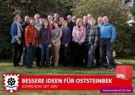 Broschüre zur Kommunalwahl 2013 - SPD Oststeinbek