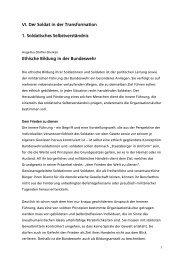 Ethische Bildung in der Bundeswehr - Reader Sicherheitspolitik