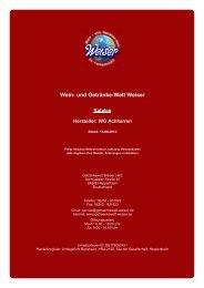 Katalog für Hersteller: WG Achkarren - und Getränke-Welt Weiser