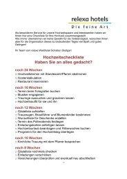 Hochzeitscheckliste - relexa Waldhotel Schatten