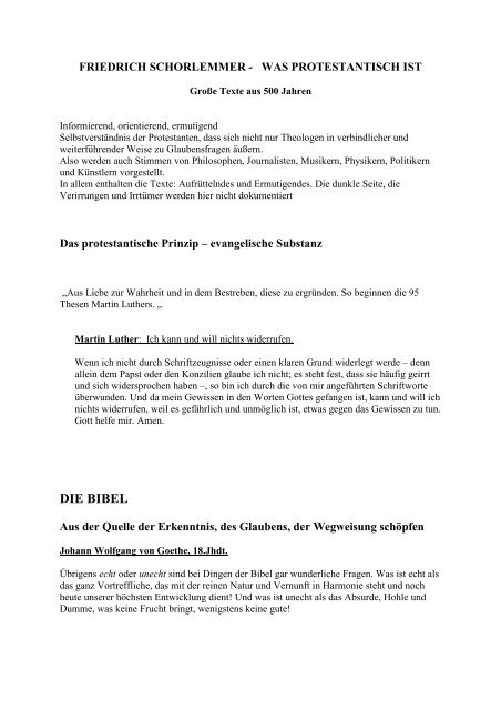 Zitate Zum Protestantismus Friedrich Schorlemmer Stadtkirche