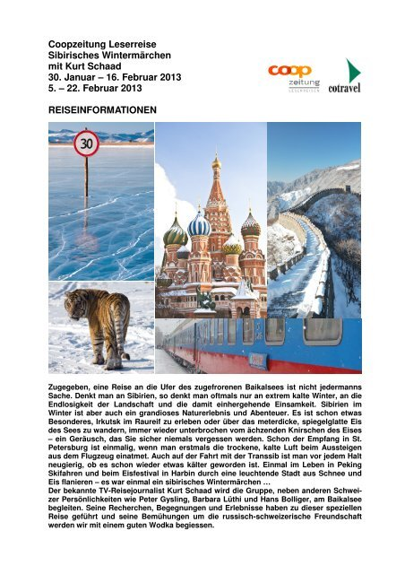 Coop Sibirisches Wintermärchen 2013