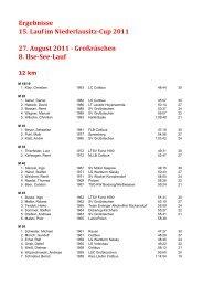 Ergebnisse 15. Lauf im Niederlausitz-Cup 2011 27. August 2011 ...