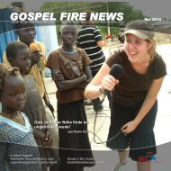GOSPEL FIRE NEWS - Gfi-ministries.org