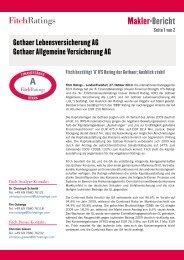 Makler-Bericht - Gothaer Versicherungen