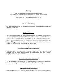 Satzung über die Veranstaltung von Wochenmärkten ... - Ottweiler