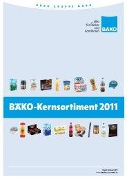 BÄko-Kernsortiment 2011 - BÄKO Gruppe Nord