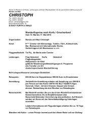 10.05. - 17.05.2014 - CHRISTOPH Reisen