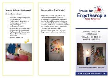 Flyer Kinder - Praxis für Ergotherapie