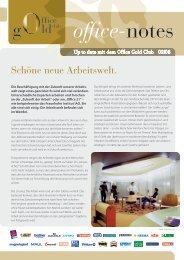 Schöne neue Arbeitswelt. - Office Gold Club