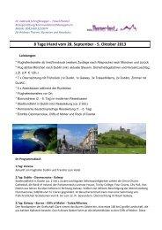 8 Tage Irland vom 28. September - 5. Oktober 2013