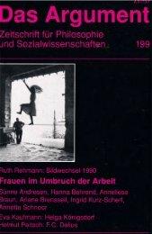 Frauen im Umbruch der Arbeit - Berliner Institut für kritische Theorie eV