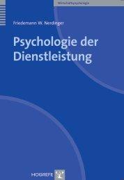 Psychologie der Dienstleistung - Hogrefe