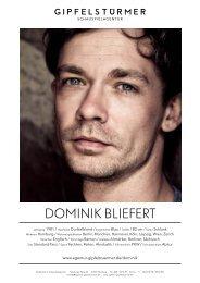 Dominik Bliefert - Schauspielagentur Gipfelstürmer