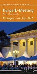 Kurpark-Meeting 2013 - Baden-Baden Events GmbH