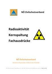 Radioaktivität und Kernspaltung - NÖ Zivilschutzverband