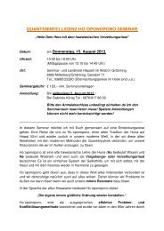 Seminarinhalt - Quantenintelligenz