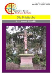 Die Brieftaube - St. Dionysius - St. Kilian - Sindlingen