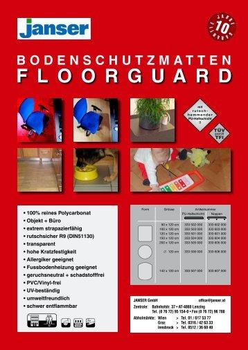 Floorguard Ecopro Unterlagsmatten.pdf - Janser
