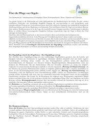 Über die Pflege von Orgeln - Amt für Kirchenmusik - Startseite