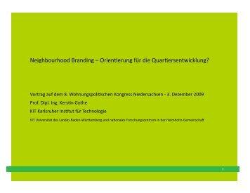 """""""Neighbourhood-Branding - Orientierung für die ... - bei der NBank"""