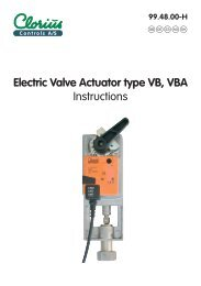 Electric Valve Actuator type VB, VBA - Instructions ... - Clorius Controls