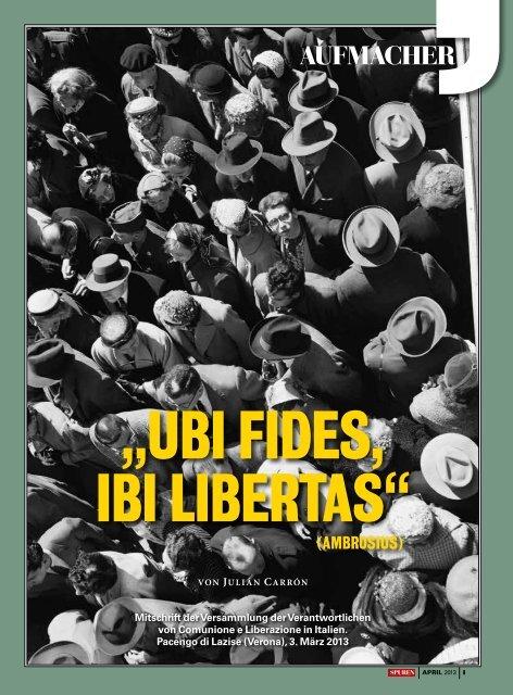 Ubi fides, ibi libertas - Gemeinschaft und Befreiung Österreich