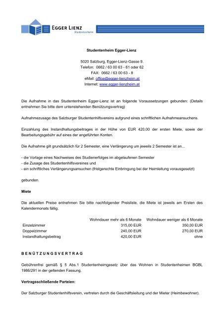 Heimordnung Egger Lienz Egger Lienz Studentenheim Salzburg