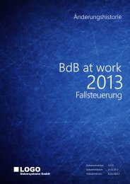 BdB at work 2013 - Änderungshistorie - Betreuung.de