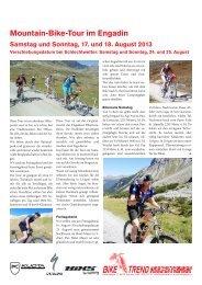 Mountain-Bike-Tour im Engadin - Bike Trend Rechsteiner