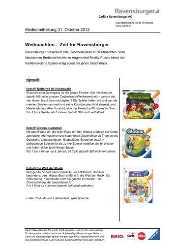 Weihnachten – Zeit für Ravensburger - Carlit