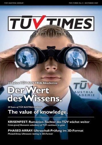 TÜV TIMES Ausgabe 3, Oktober 2009 / TUV TIMES ... - TÜV Austria