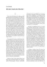 Uwe Eckardt: 400 Jahre Stadtrechte Elberfeld. - BGV-Wuppertal