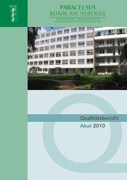 Qualitätsbericht 2010 - Krankenhausspiegel-Hannover