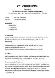 Protokoll der Generalversammlung vom 5. Mai 2011 - SVP ...