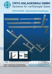 CRYO SYSTEM - Vakuumisolierte Rohrleitungen
