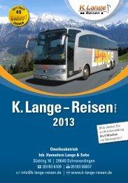 2013 - K. Lange Reisen