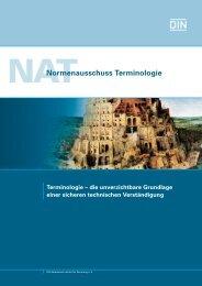 Terminologie - Grundlage der Verständigung (458.9 KB) - NA 105 ...