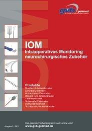 Intraoperatives Monitoring neurochirurgisches Zubehör - GVB Gelimed