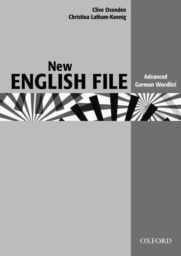 German Wordlist - english world
