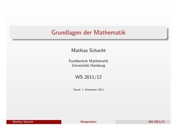 Grundlagen der Mathematik - Fachbereich Mathematik - Universität ...