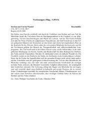 Kommentiertes Vorlesungsverzeichnis SS 2000 - Lehrstuhl für ...