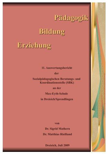 SBK-Bericht 2009 - Dr. Matthias Rießland