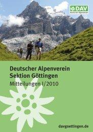 Deutscher Alpenverein Sektion Göttingen - DAV Sektion Göttingen