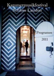 Programmheft 2011 - Kammermusikfestival Schloss Laudon