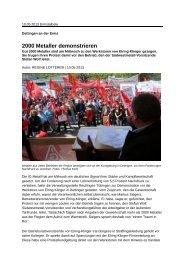 2000 Metaller demonstrieren - Beate Müller-Gemmeke