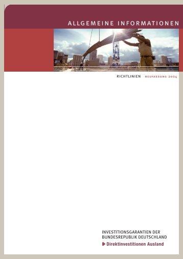 Allgemeine Informationen Richtlinien - AGA-Portal